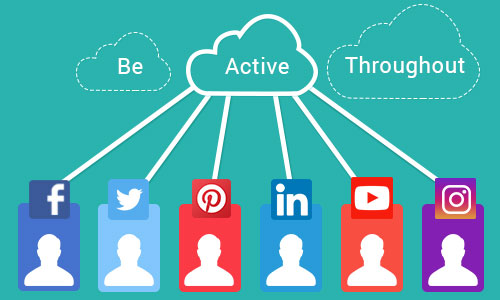 Be active throughout - Ways to promote your mobile app through social platforms