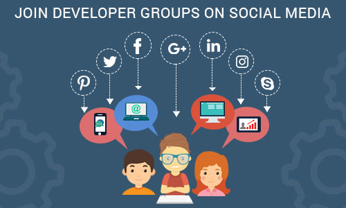 Join developer groups on social media - Ways to promote your mobile app through social platforms