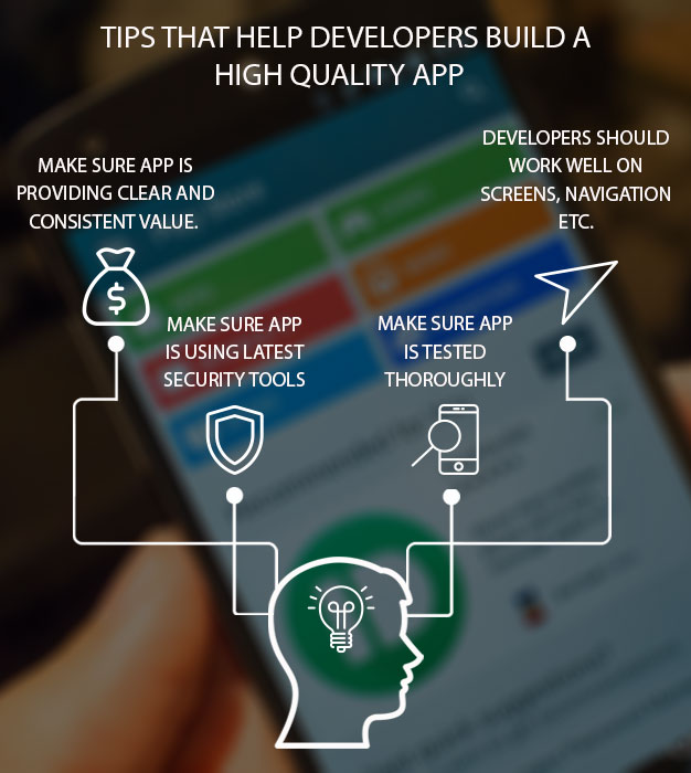 Tips that help developers build a high quality apps