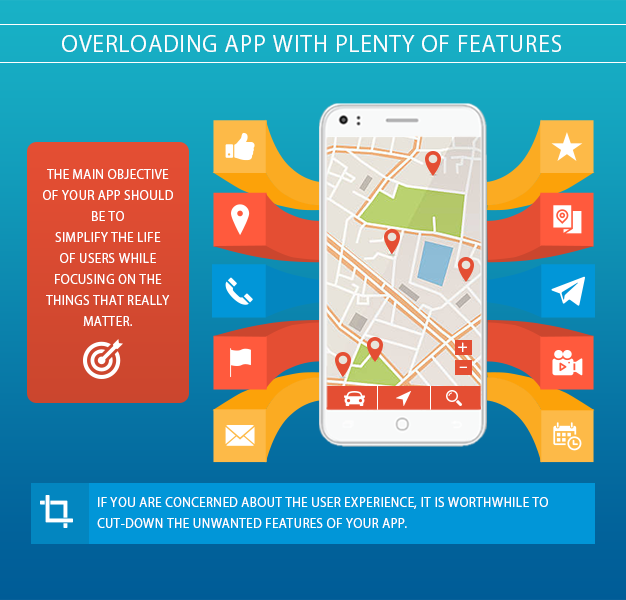 Overloading app with plenty of features