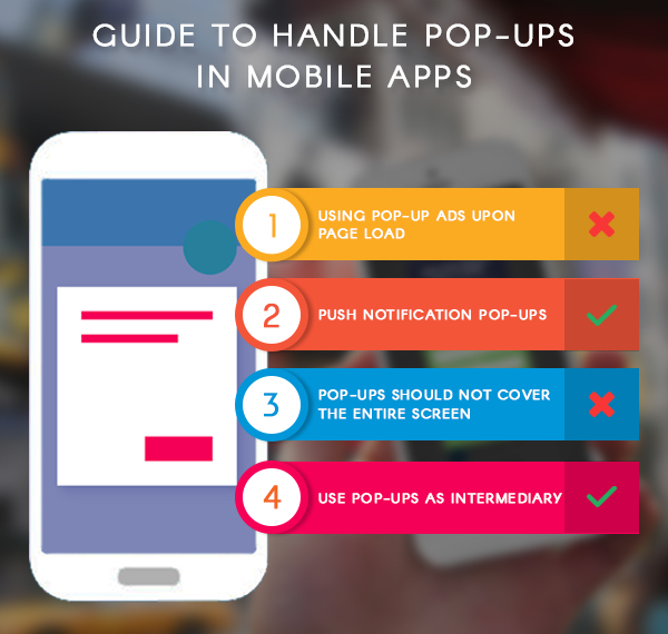 Guide to handle pop ups in mobile apps