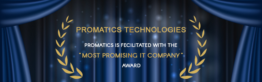 Promatics is fecilitated with the Most Promising IT Company Award