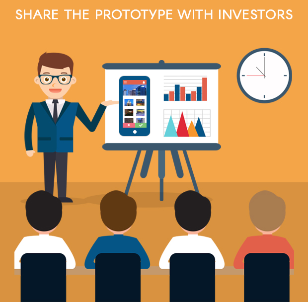 Share the mobile app prototype with investors
