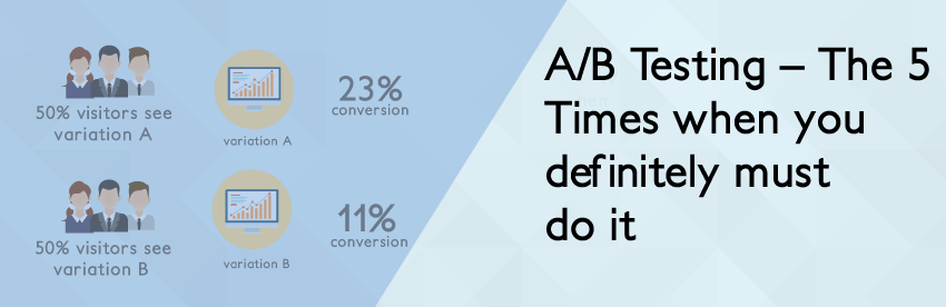 A/B Testing - The 5 Times when you definitely must do it
