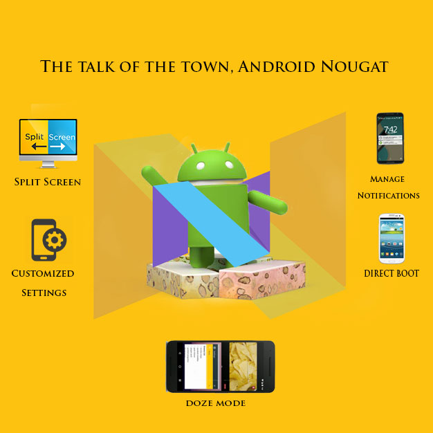 The talk of the town, Android Nougat
