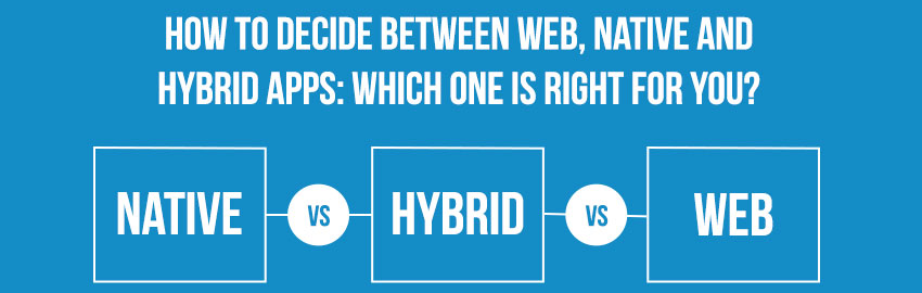 How to decide between Web, Native and Hybrid Apps: Which one is right for you?