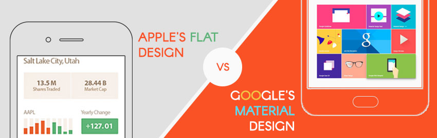 Google's Material Design vs Apple's Flat Design Which is better - large