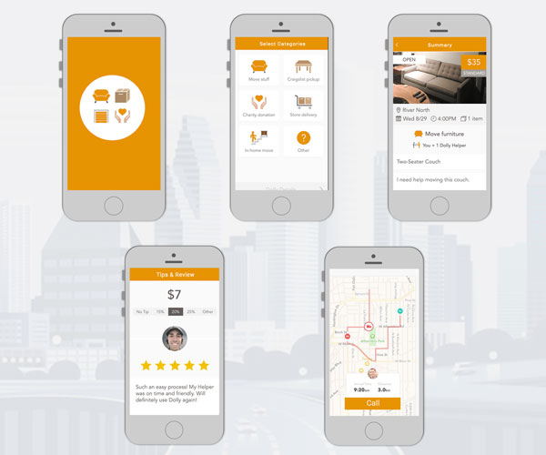 UI-workflow-on-demand-cargo-delivery-app