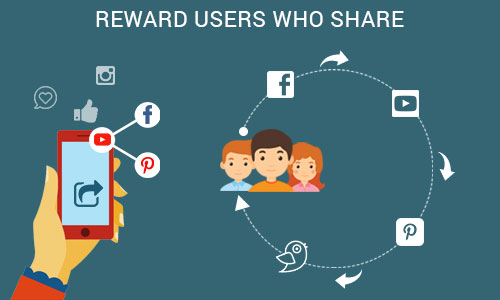 Reward users who share - Ways to promote your mobile app through social platforms