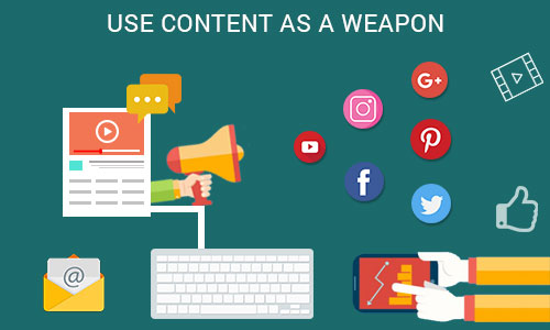 Use content as a weapon - Ways to promote your mobile app through social platforms