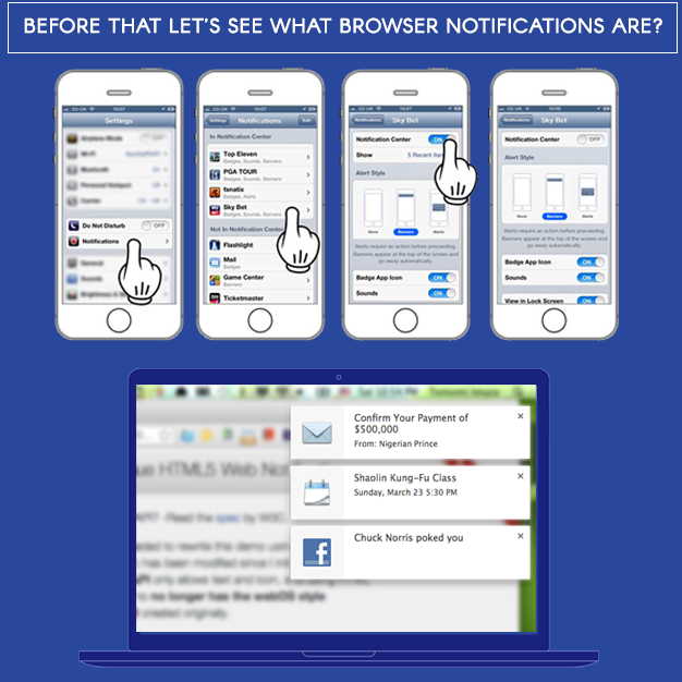 What browser notifications are