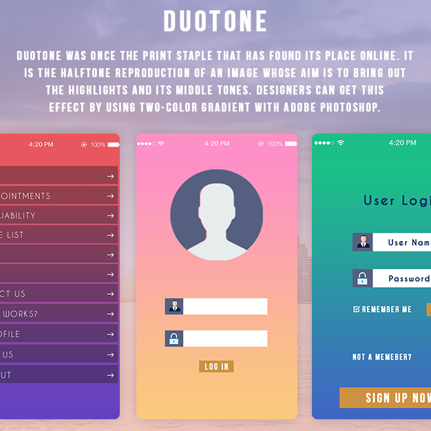 How to use vibrant colors to enhance the appeal of your app - Duotone
