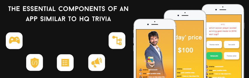 The essential components of an app similar to HQ Trivia - Promatics Technologies