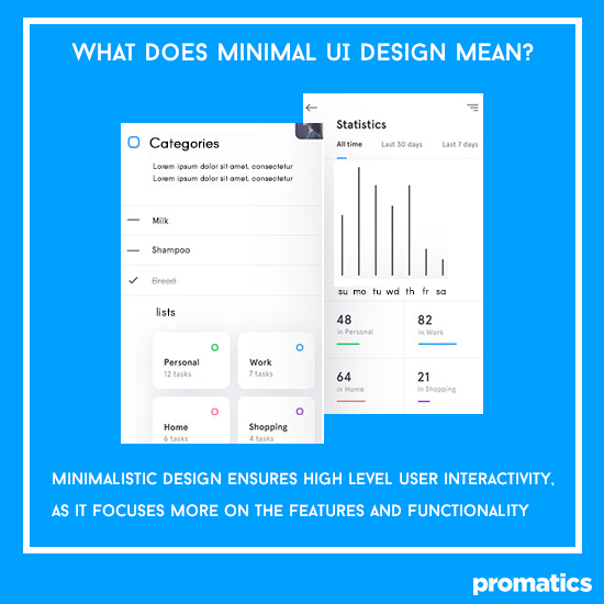 What does minimal UI design mean