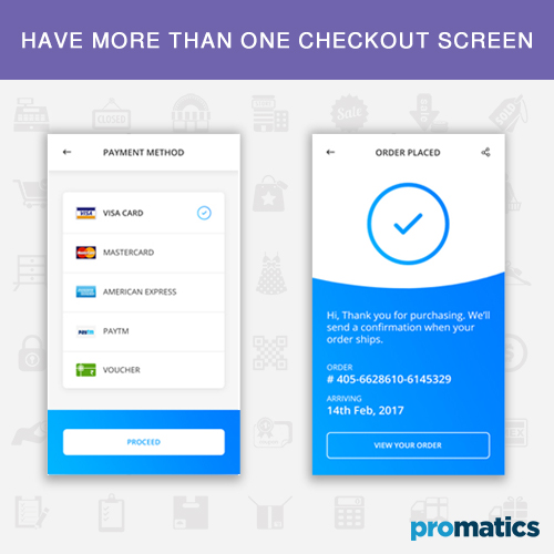 Have more than one checkout screen