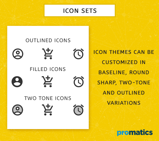 Icon sets for Material Design