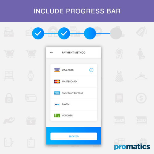 Include progress bar in ecommerce apps