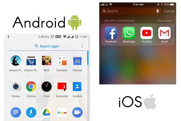 Navigation Gestures - Android vs iOS