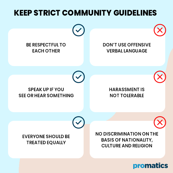 Keep Strict Community Guidelines