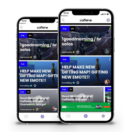 Social-media-app-in-iPhone-with-banner-ad