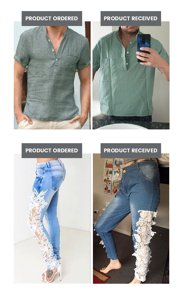 Product Ordered vs Product Received