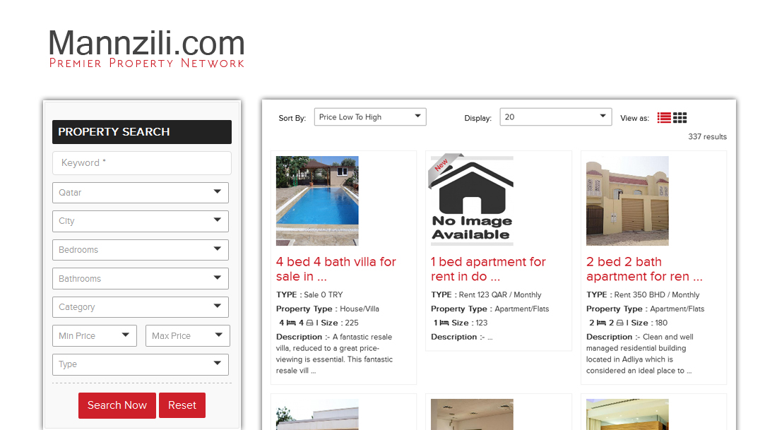 Properties Search Results
